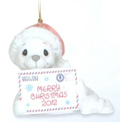 Precious Moments 2012 Dated Animal Ornament Sealed With A Kiss