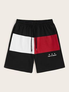To find out about the Men Colorblock Drawstring Waist Shorts at SHEIN, part of our latest Men Shorts ready to shop online today! Short Outfits, Boy Outfits, Streetwear Shorts, Pop Fashion, Mens Fashion, Fashion Trends, Chor, Gym Shorts Womens, Men Shorts