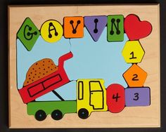 Personalized Name Dump Truck Theme Puzzle... by YouNameItToys