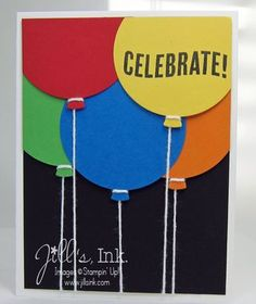 Primary Balloons Card