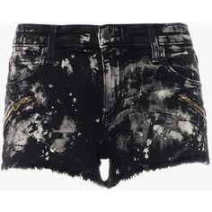 THRILLER ZIP SHORT (5.315 RUB) ❤ liked on Polyvore featuring shorts, zipper shorts and short shorts