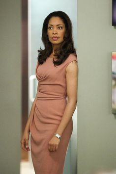another killer dress worn by Gina Torres - as Jessica Pearson on the TV show Suits.