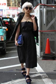 Tokyo Fashion Week street style.