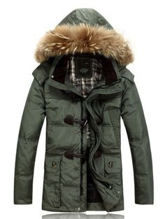 03a486f59a62 fashion mens Duck Down Coat hooded thicken Warm Winter Parka jacket overcoat  new