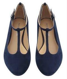 Royal Blue T-flats #shoes