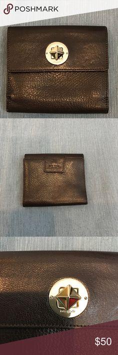 Kate Spade brown leather wallet Kate Spade brown leather wallet VGUC kate spade Bags Wallets