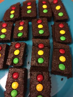 Our stoplight brownies! Adorable and SO EASY! 2nd Birthday Party For Boys, Hot Wheels Birthday, Hot Wheels Party, Race Car Birthday, Race Car Party, Cars Birthday Parties, Disney Cars Birthday, 4th Birthday, Birthday Ideas