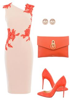 """Untitled #412"" by rnuhiji ❤ liked on Polyvore featuring Karen Millen, Christian Louboutin, Mulberry and Nordstrom Rack"