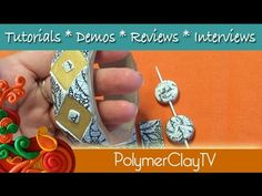 How to create a metallic gold liquid polymer clay and image transfer woo...