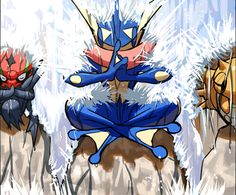Accelgor, Greninja, and Shedinja…