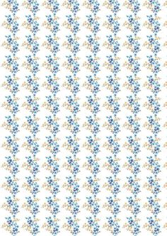 Blue Flowers on White