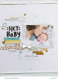 """Hey Baby"" Layout by Jana Maiwald-McCarthy using the Scraptastic Kit ""Sweet Child O´Mine"" and the BoyAddOn - March Kit"
