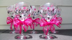 I'm obsessed with these personalized wine glasses from Vinyle Yours on Etsy!