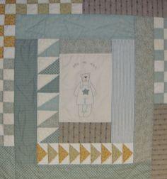 """El petit punt """"Pequeña manta de patchwork para niño"""""""