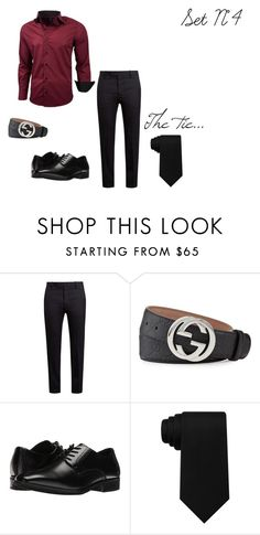 """Set N°4"" by zsugabubus ❤ liked on Polyvore featuring Marni, Gucci, Stacy Adams, Tommy Hilfiger, men's fashion and menswear"