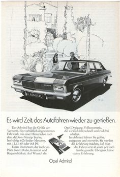 #Opel Admiral #automotive #70s
