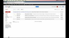 Gmail Tutorial 2013 - Introduction & User Interface (Part 1)
