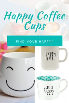 Looking for the perfect gift for a coffee lover? Here are my finds for the best happy coffee cups – something even non-coffee drinkers will enjoy! Read to the end to see the special additions. Happy Cup, Happy Coffee, Coffee To Go, Coffee Type, Coffee Gifts, Coffee Drinkers, Coffee Creamer, Melitta Coffee Maker, Coffee Equipment