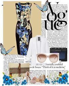 blue outfit, created by kkollektion on Polyvore