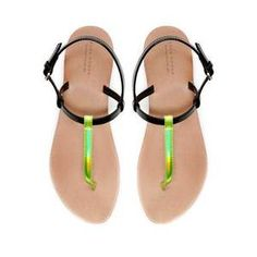 cdd76463bd8 Image of  grdhjr2100016 Fluorescent color leisure flat sandals Zara Flats