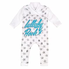 Lullaby Rock Star onesie. Shop online at www.lullabyrock.co.za  #lullabyrock #rockingbabyapparel Instrumental, Onesies, Rock, Star, Shopping, Clothes, Products, Fashion, Outfit
