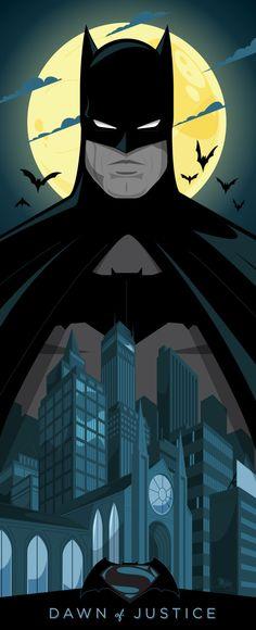 Batman v Superman by  Mike Mahle