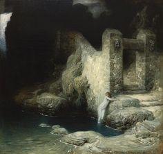 Ferdinand Keller - Nymphe an der Quelle