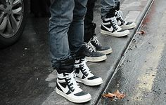 Rick Owens sneakers which are also high end designer sneakers