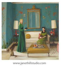 Details:  This is a fine art giclee print of an original oil painting of mine.  Title: The Etiquette of Blackmail  Image size: Approx 12x12.