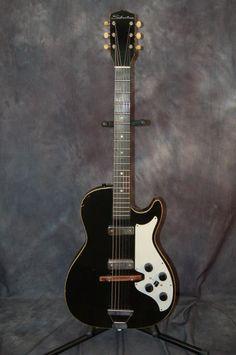 Silvertone Model 1420 Stratotone DeArmond Pickups Pro Setup Original Case 1963 | Reverb.com. Give us a call. Lawman Guitars 515-864-8136