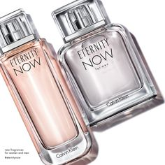The ETERNITY NOW Calvin Klein fragrance for him + her features energizing fruit scents wrapped in warm notes. Forever starts now. #ETERNITYNOW