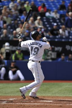 Jose Bautista Toronto Blue Jays - Can't wait for your return Mlb American League, Mlb The Show, Mlb Teams, Tampa Bay Rays, Toronto Blue Jays, Baltimore Orioles, Sports Photos, Raptors, Baseball Players