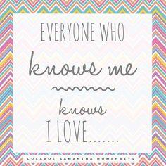 LuLaRoe Engagement post- Everyone knows I love..