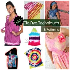 100+ Tie Dye Techniques and Patterns | Great tie dye ideas for when the summer rolls around again! Better get your t-shirts ready!