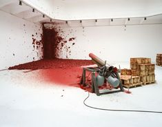 Shooting into the corner installation, by Anish Kapoor.                                                                                                                                                     More