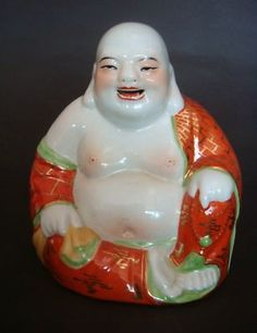 Vintage Porcelain Laughing Buddha from China