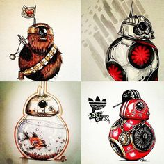Community Challenge!Post a BB-8 mashup and add the hashtags #bb8awakens and #bb8mashup. The top four will get featured! Above are some examples of BB-8 mashups by the very clever@x_captain_phasma_x.DEADLINE for submissions: February 21 (2 weeks away). #drawingcontest #bb8droid by bb8awakens