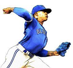 Check out our massive range of Toronto Blue Jays merchandise! Mlb, Marcus Stroman, Sports Figures, Toronto Blue Jays, Cleveland Indians, Baseball Cards, Range, Illustrations, Heart