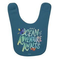 Dory & Nemo   An Ocean of Adventure Awaits baby bib.