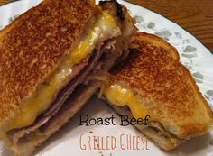 Roast Beef Grilled Cheese {sugar for breakfast}