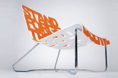 Dharma Lounge Chair by Palette Industry furniture 2 Design Blog, Design Studio, Type Design, Cool Typography, Orange Design, Yanko Design, Palette, Retail Design, Magazine Design