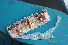 Anthro Inspired Vintage Lace Bracelet