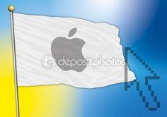 apple flag vector file