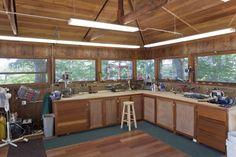 home workshop | ... Island House Design Modern : Frank Lloyd Wright Workshop Wooden Design