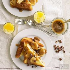 French toast with banana caramel