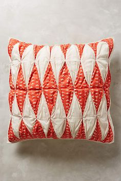 Dotted Ikat Euro Sham - anthropologie.com