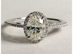 Oval halo diamond with a skinny thin diamond band we ♥ this! davidtuteraformoncheri.com