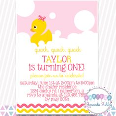 Little Rubber Duckie Birthday Party Fill in Invitations 20 5x7 Fill in Cards with Twenty White Envelopes by AmandaCreation 20 5x7 Fill in Cards with Twenty White Envelopes by AmandaCreation Amanda Creation
