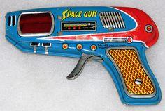 "Vintage Tin-Toy ""Space Gun"" by Shudo, Made in Japan"