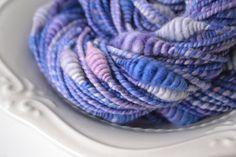 Periwinkle beehive handspun art yarn